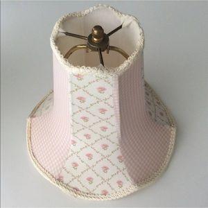 Vintage Laura Ashley Lamp Shade | Pink Roses Braid